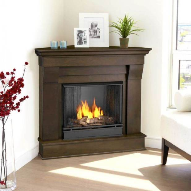 Ornamented Electric Corner Fireplace Ideas