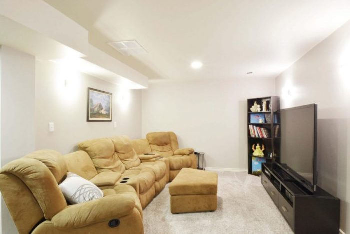 The Second Living Room Basement Finishing Ideas