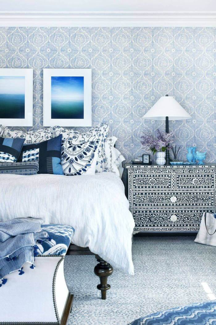 Master Bedroom Ideas Do Pattern on Pattern
