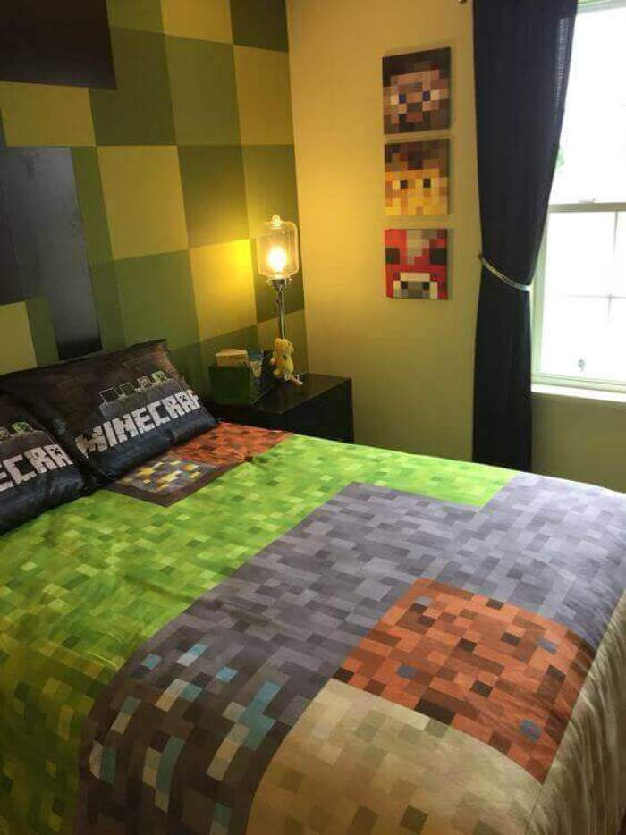 Boys Bedroom Ideas Mine craft Domination - Harptimes.com