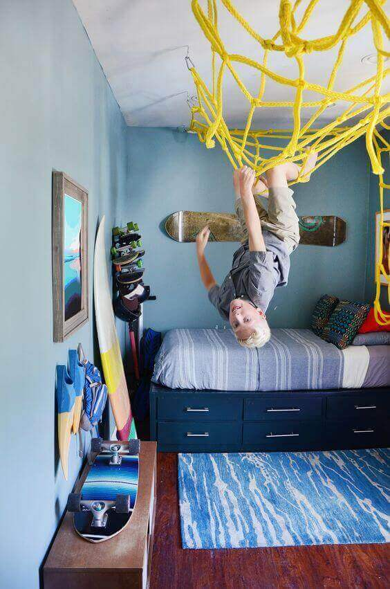Boys Bedroom Idea Sporty Playground