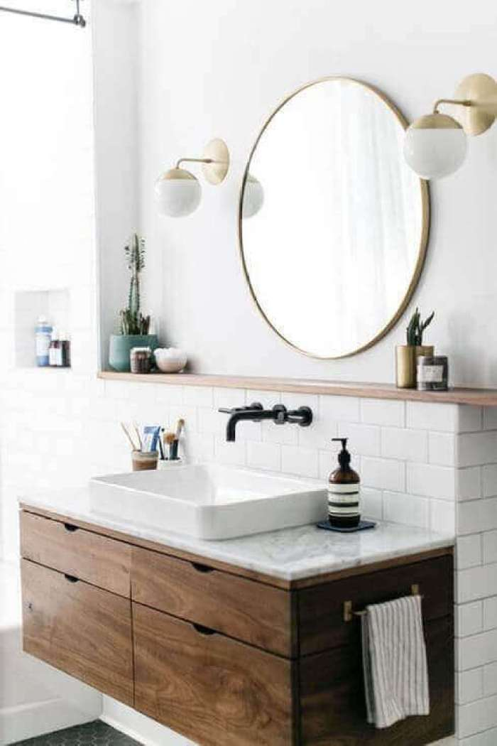 DIY Oval Vanity Mirror Wall-Mounted Lights - Harptimes.com