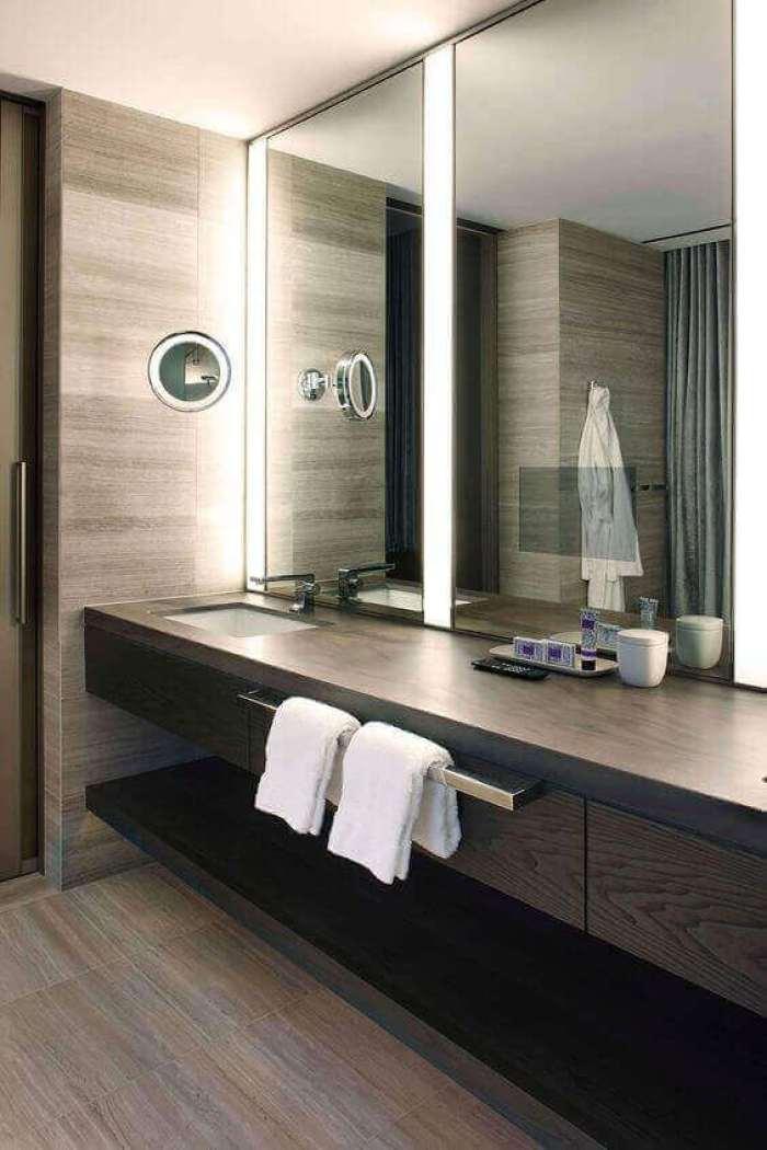DIY Vanity Mirror with Lights for Contemporary Bathroom - Harptimes.com