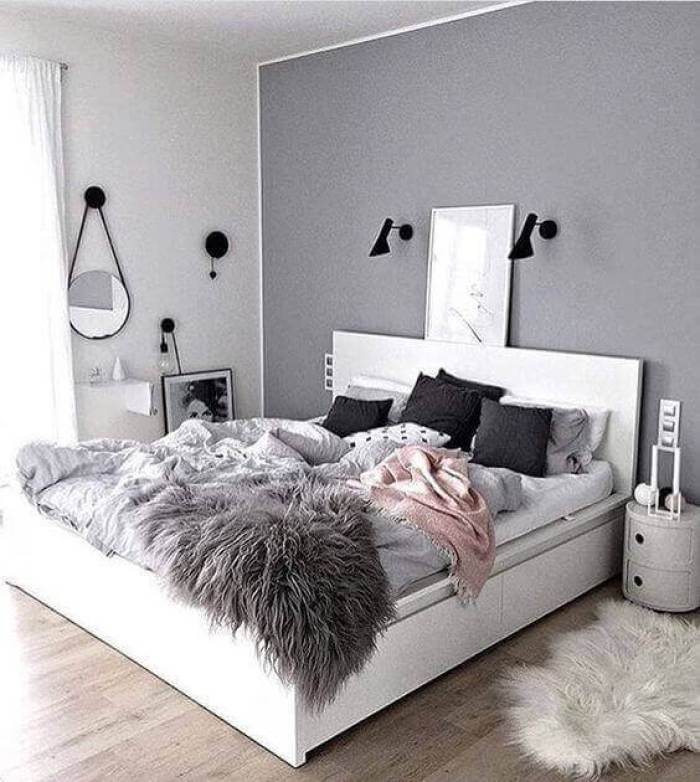 Teenage Girl Bedroom Ideas Color Grey Simple - Harptimes.com