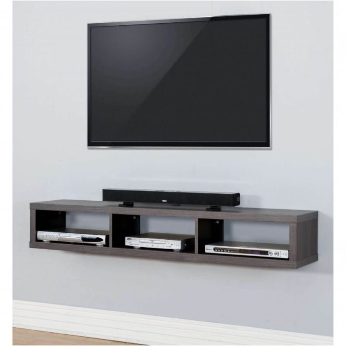 Full Wall Shelving Ideas for Wall Mounted TV