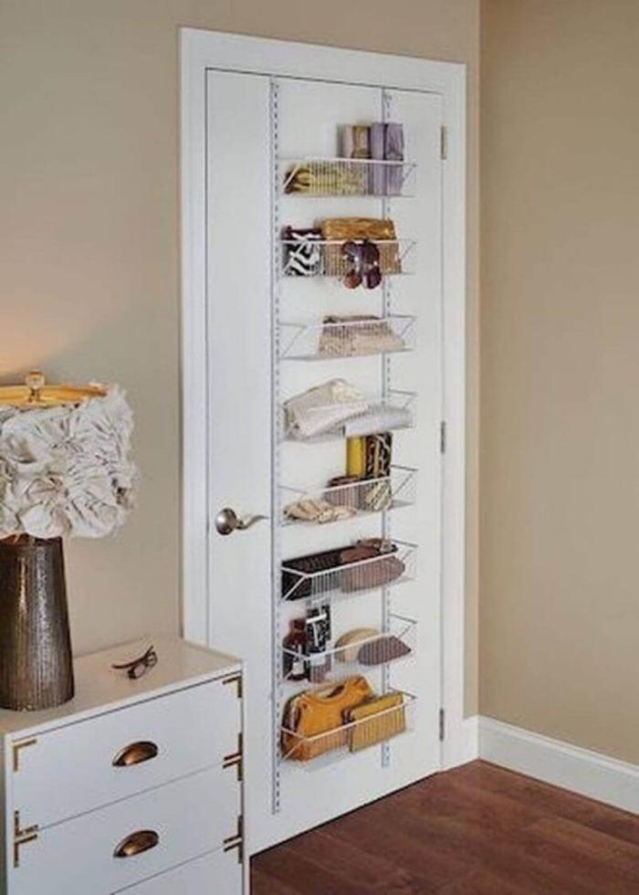 Small Bedroom Ideas with Door Mounted Racks - Harptimes.com