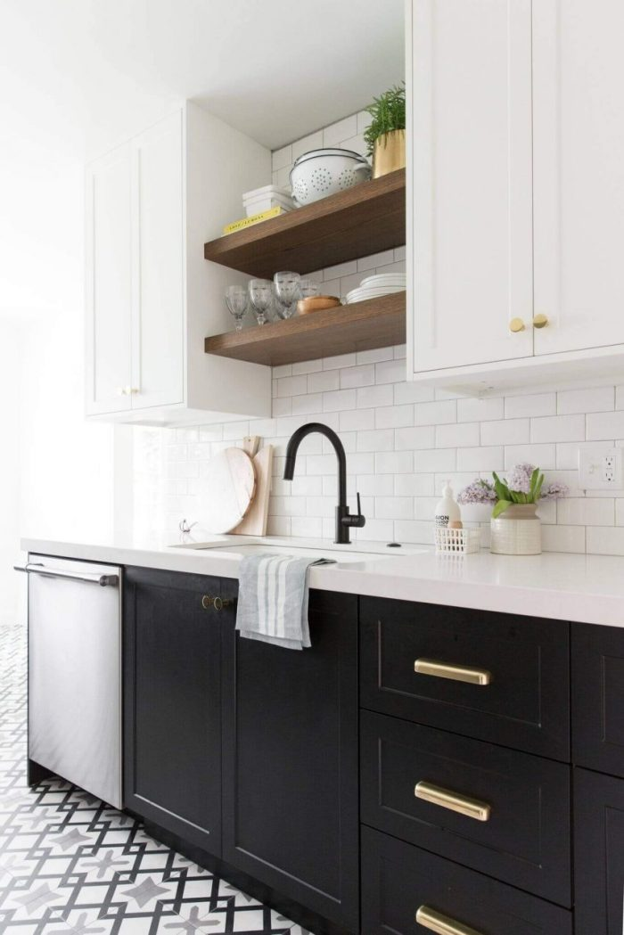 unique kitchen wall shelving unit ideas