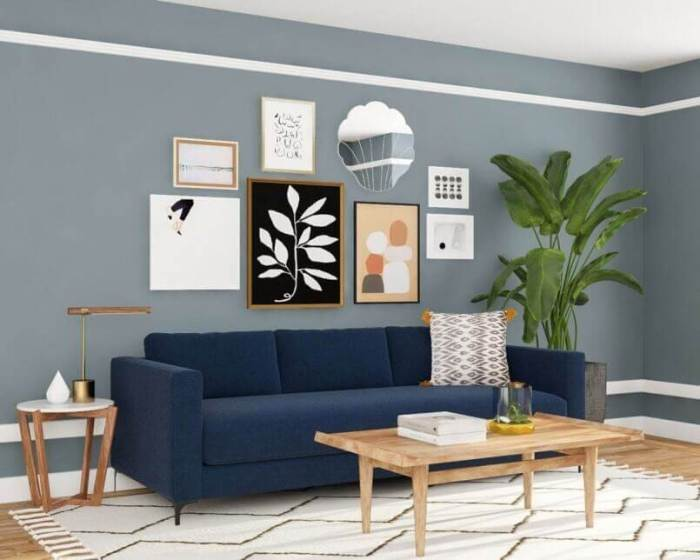 Eclectic Living Room with Traditional Wall Gallery Ideas