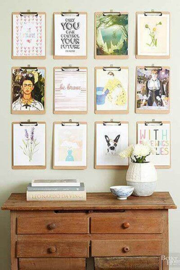 Wall Gallery Ideas with Clipboard