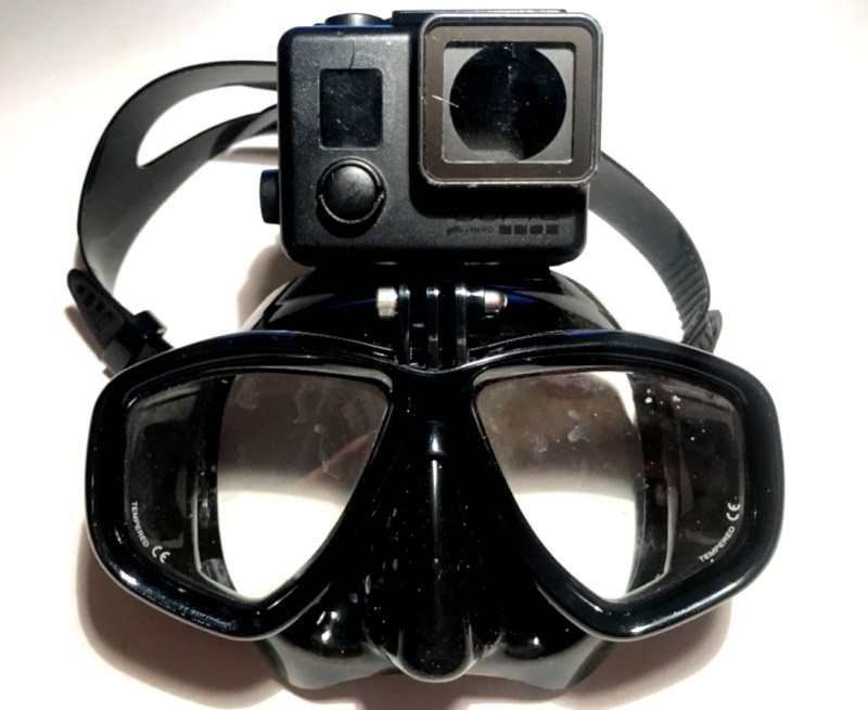Spearfishing Mask Taucherbrille Tauchermaske Scuba Brille Cressi Gopro Halterung Attatchment Action Cam Best Divingmask
