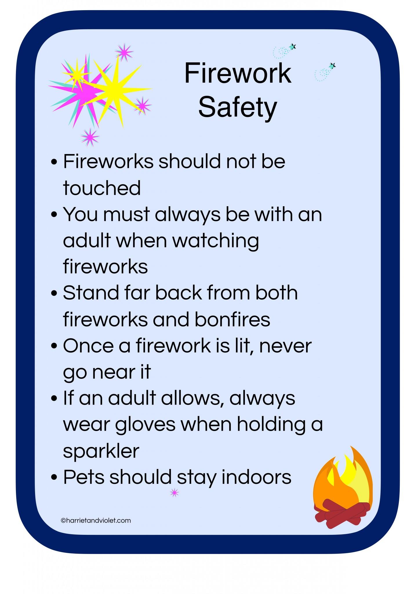 Firework Safety Poster