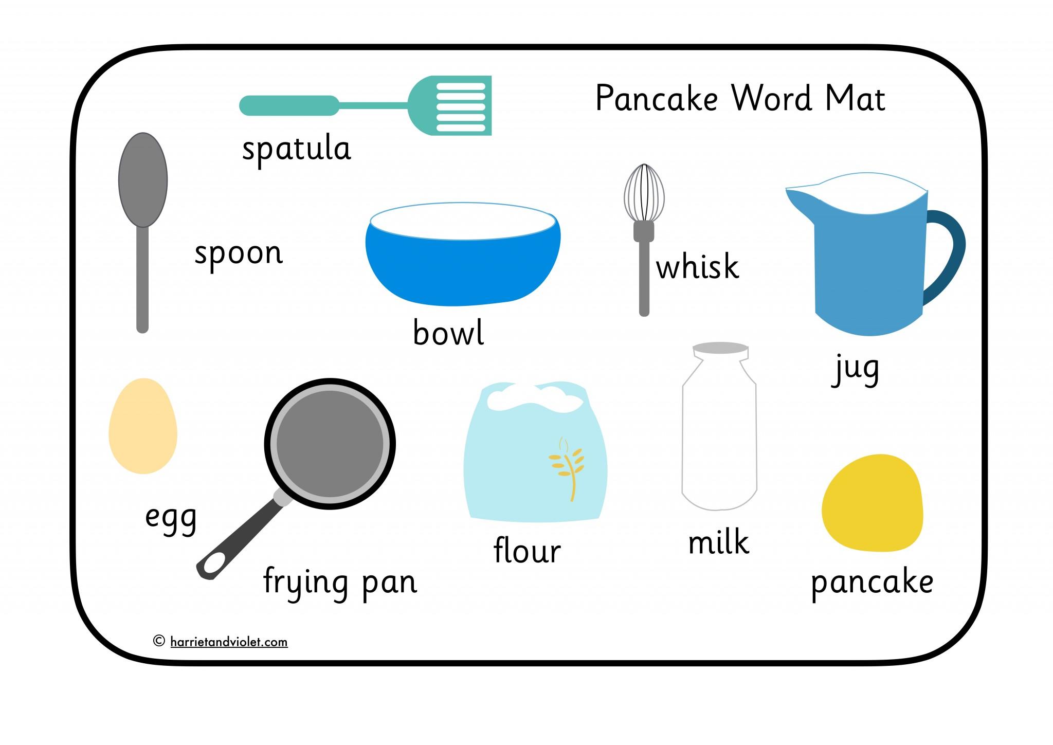Pancake Word Mat