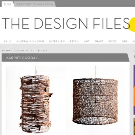 2012 October - The Design Files. Click here for the full article: http://thedesignfiles.net/2012/10/harriet-goodall/