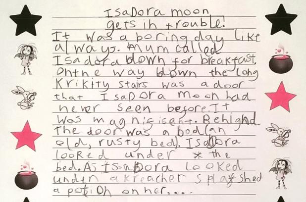 Isadora Moon as a human - story 1