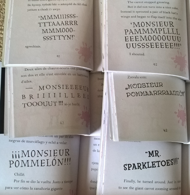 Monsieur Pamplemousse in different foreign editions