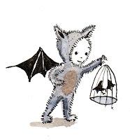 child in a bat suit by Harriet Muncaster