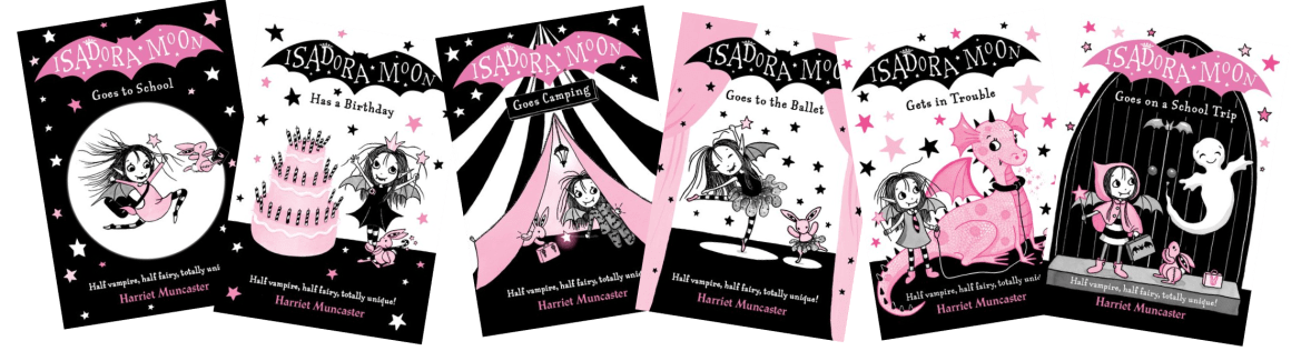 The first six Isadora Moon covers