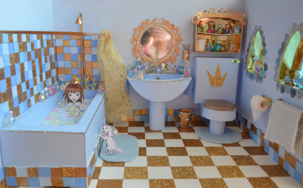Glitterbelle's bathroom by Harriet Muncaster