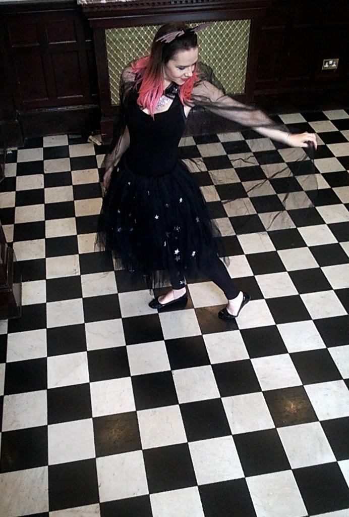 Harriet Muncaster in Isadora Moon outfit