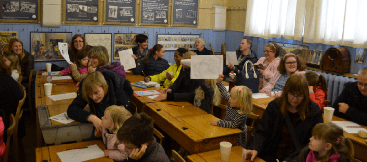 Attendees at Harriet Muncaster's event at Hitchin Children's Book Festival