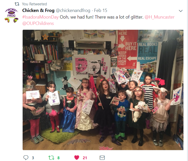 Isadora Moon Party at Chicken & Frog Bookshop