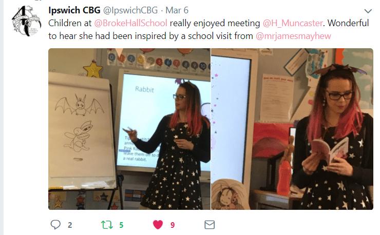 Harriet Muncaster at Broke Hall School Ipswich