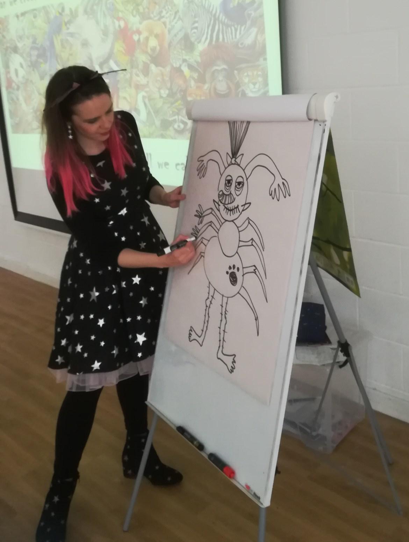 Harriet Muncaster creates hybrid character at Etz Chaim Primary School