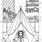 Isadora Moon Camping in the Kitchen Colouring Sheet