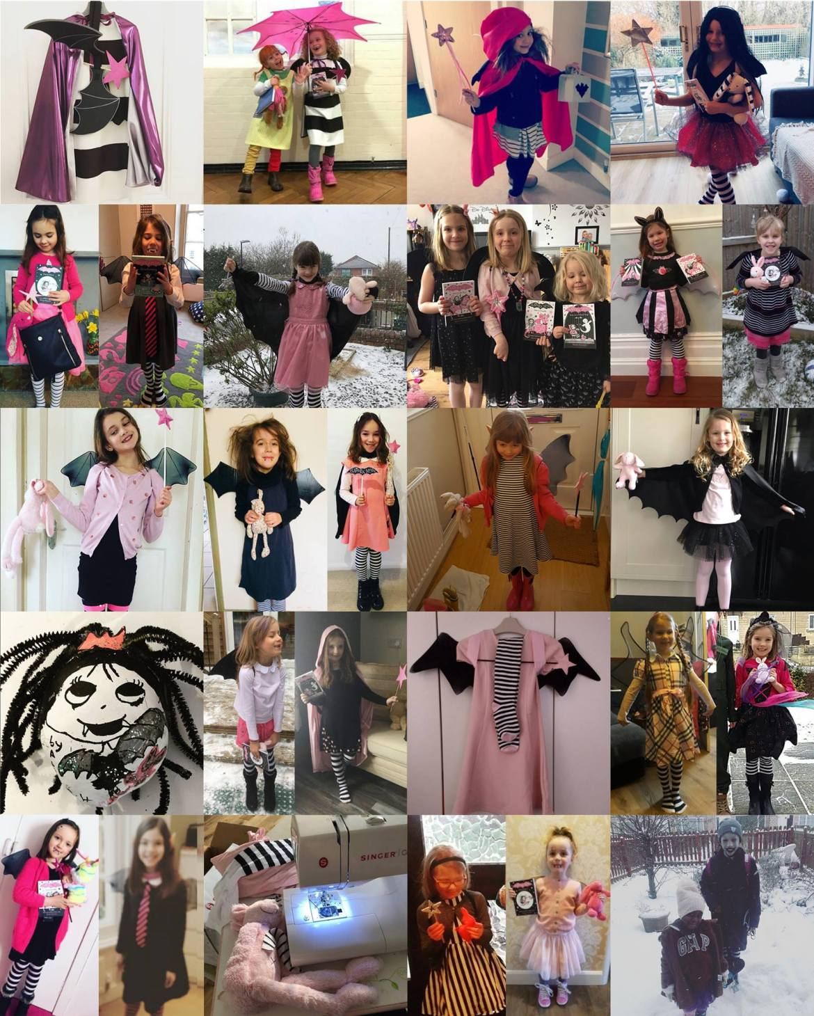 Isadora Moon World Book Day Costume Montage