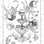 Isadora Moon in the Mermaid's Palace Colouring Sheet