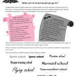 What sort of school would you go to - Isadora Moon activity preview