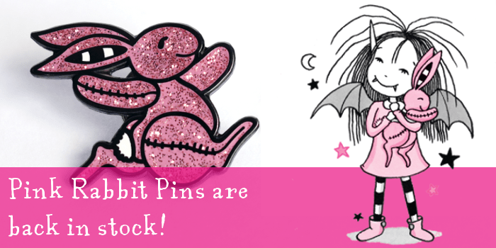 Pink Rabbit Pins are back in stock!