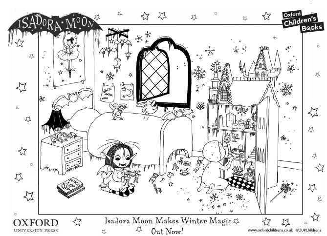 Click to download the Isadora Moon's Bedroom Colouring Sheet