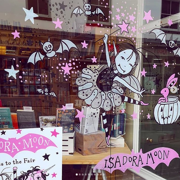 Mostly Books in Abingon Isadora Moon Window Display