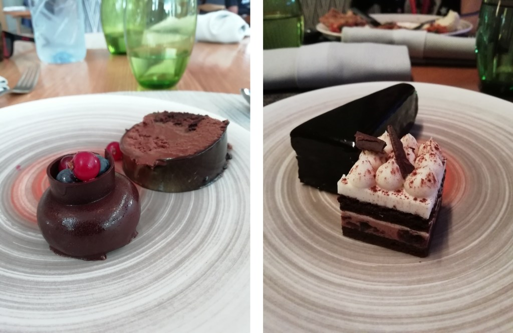 Desserts at Anise restaurant