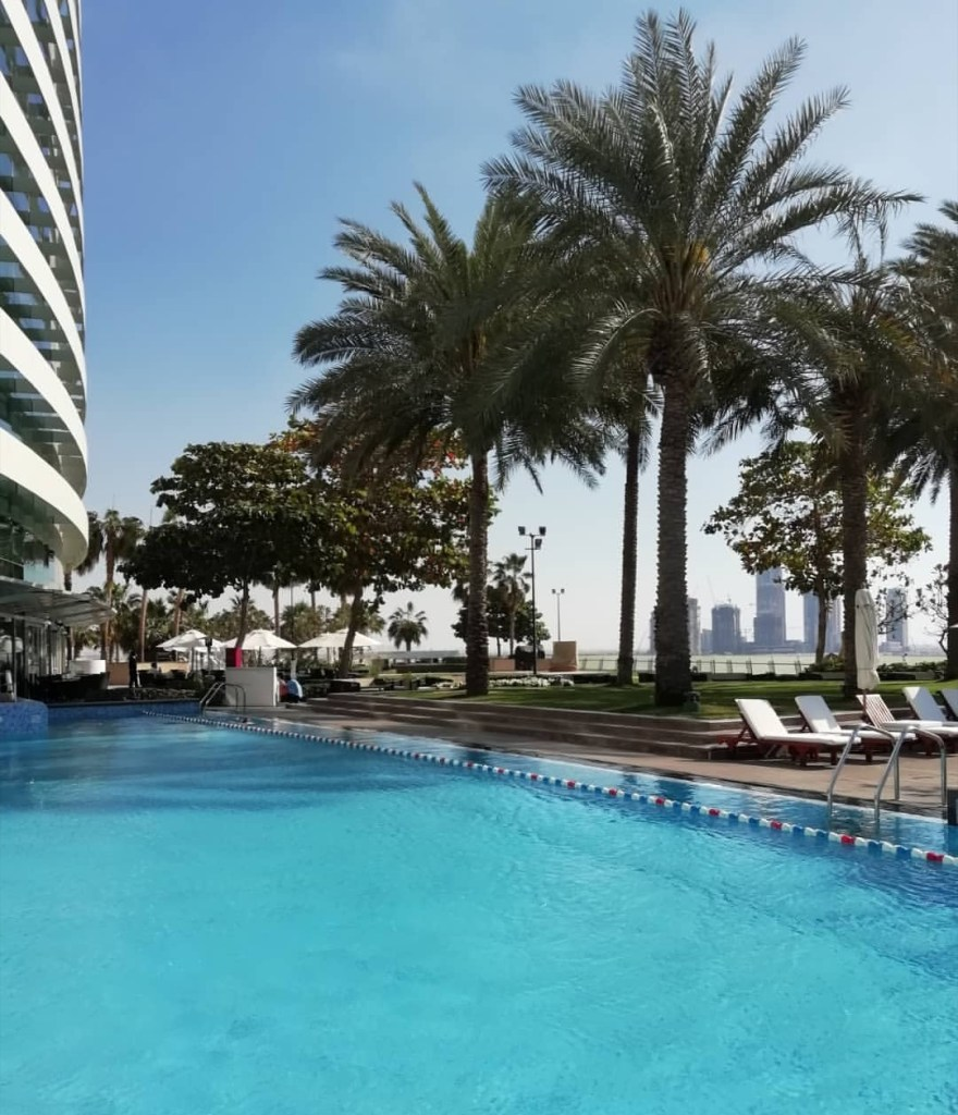 Pool at the Crowne Plaza Hotel in Dubai