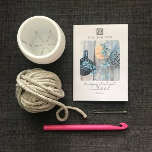 crochet hanging plant pot kit
