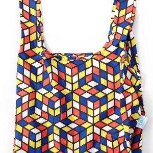 kind bag with geometric design
