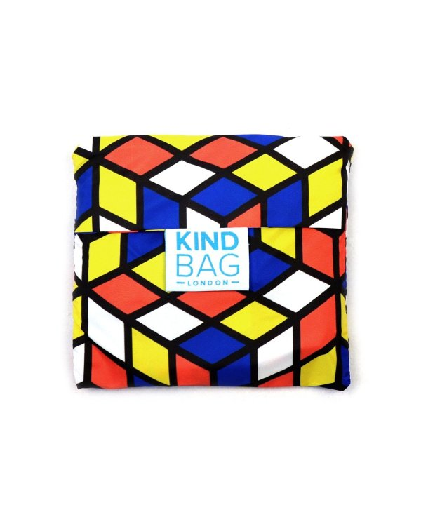 kind bag in pouch geometric design