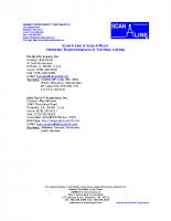 HIC Domestic Rep Listing