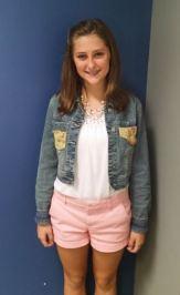 2 McKenna DeRiese September 2015 Student of the Month