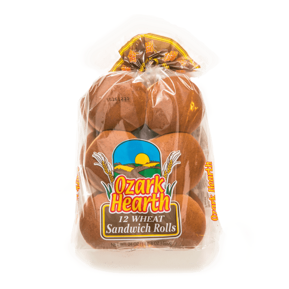 Ozark Hearth 12 Wheat Sandwich Rolls