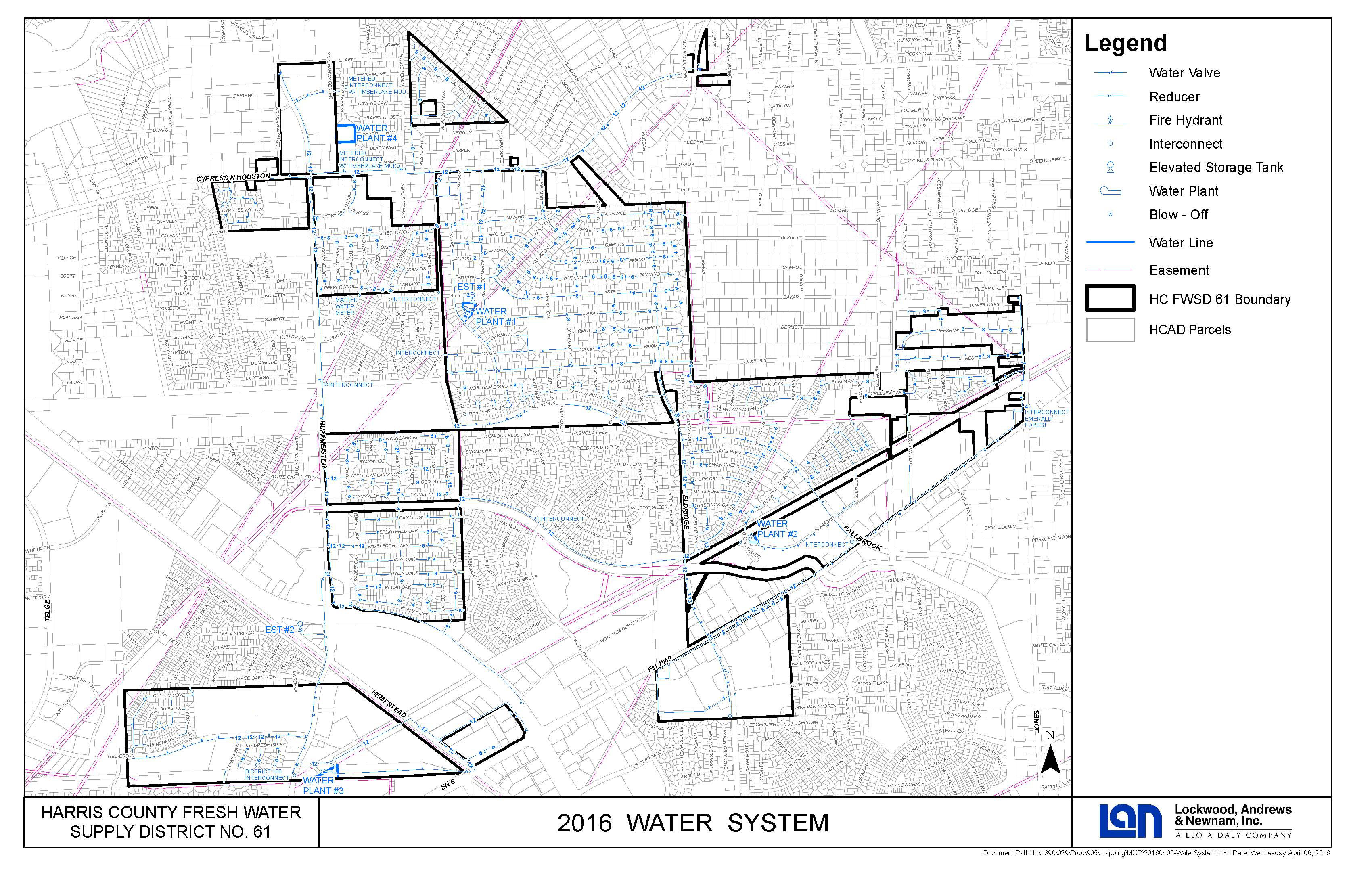 Maps Harris County Fresh Water Supply District 61