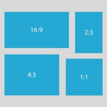 The different aspect ratios when creating a visualisation