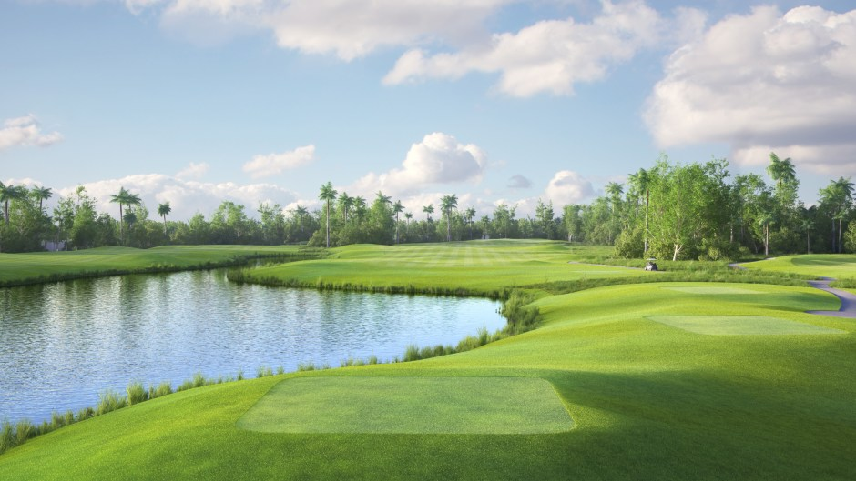 Image showing the 17th tees at the Garden City Golf Course in Port Harcourt
