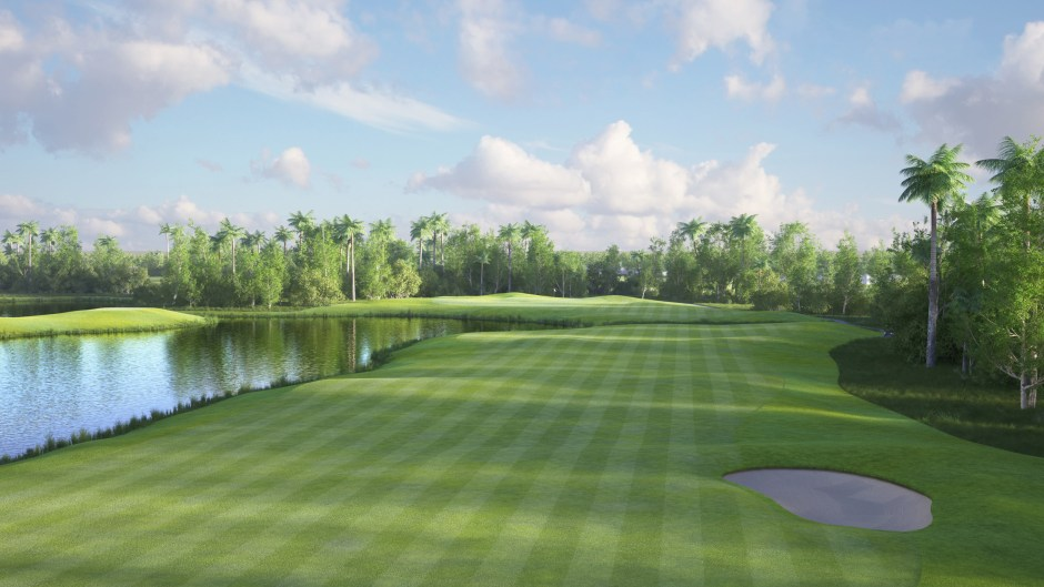 Image showing the 18th fairway at the Garden City Golf Course in Port Harcourt