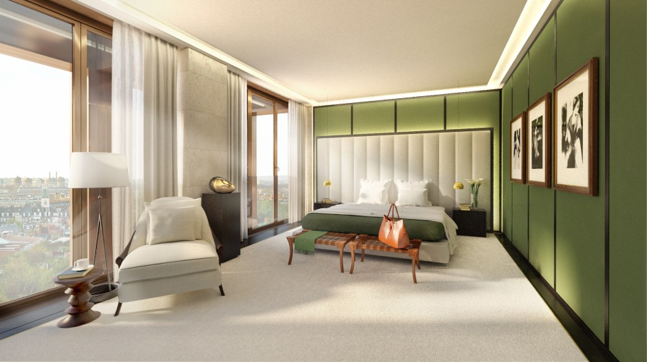 Architectural visualisation showing the bedroom