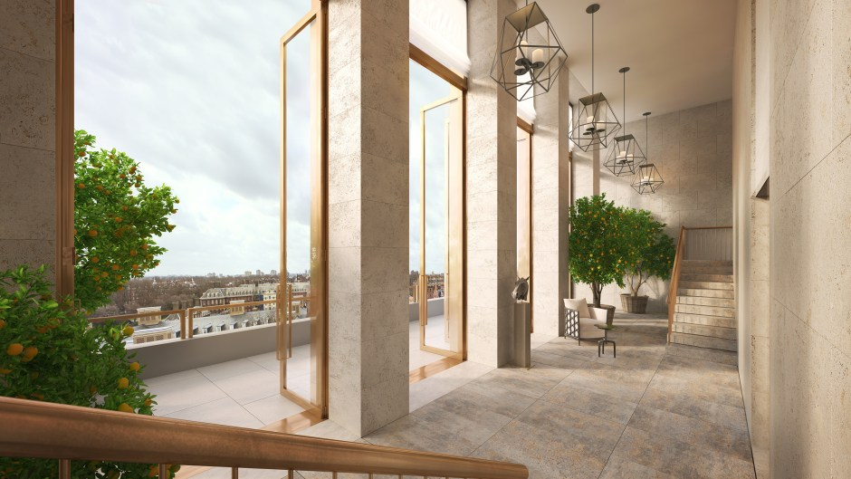 Architectural visualisation showing the orangerie