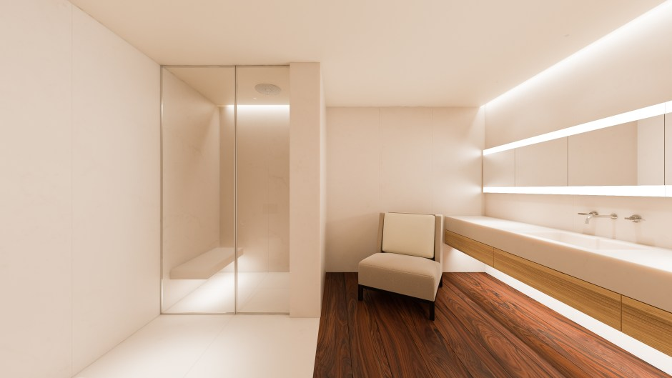 Render of the John Pawson and Christian Liaigre Bathroom (1) at Holland Green