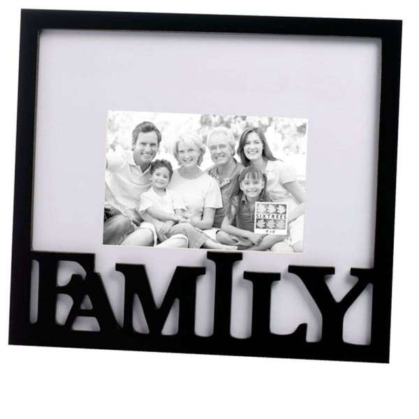 Family Carved Wooden 6x4 Photo Frame